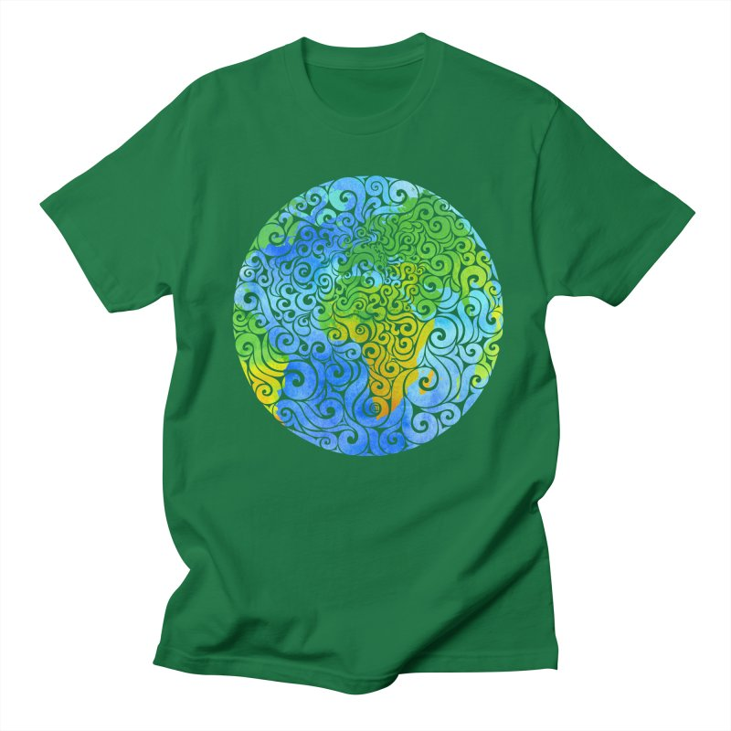 Swirly Earth Men's T-Shirt by VectorInk's Artist Shop