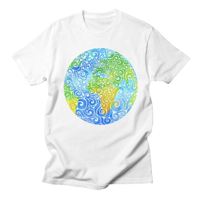 Swirly Earth Women's Unisex T-Shirt by VectorInk's Artist Shop