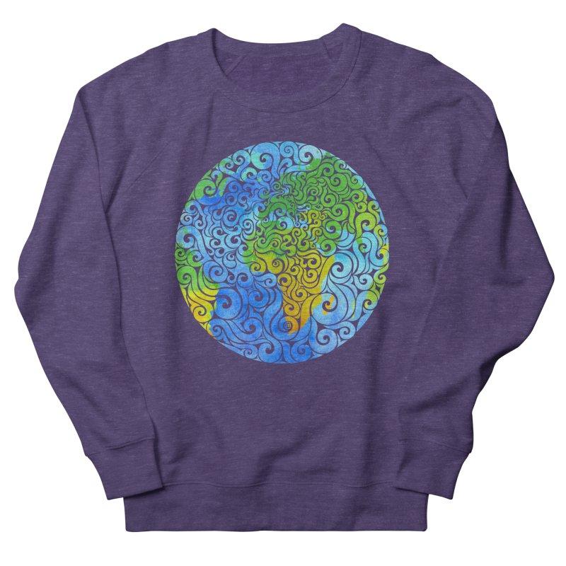 Swirly Earth Women's Sweatshirt by VectorInk's Artist Shop