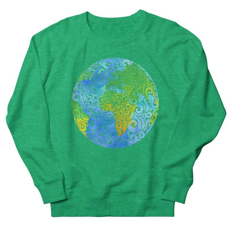 Swirly Earth Men's Sweatshirt by VectorInk's Artist Shop