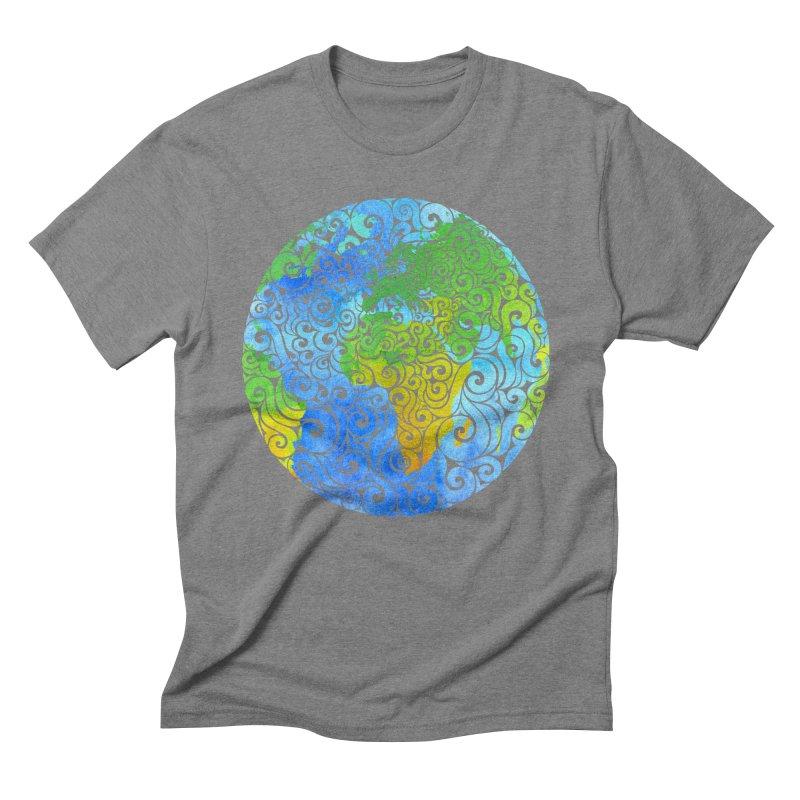 Swirly Earth Men's Triblend T-Shirt by VectorInk's Artist Shop