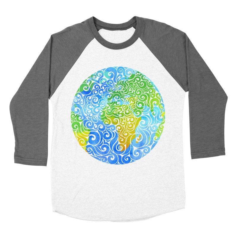 Swirly Earth Women's Baseball Triblend T-Shirt by VectorInk's Artist Shop