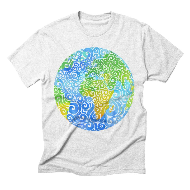 Swirly Earth Men's Triblend T-shirt by VectorInk's Artist Shop