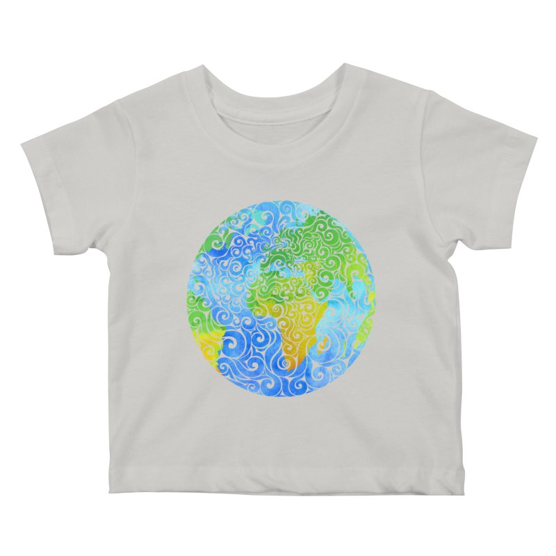 Swirly Earth Kids Baby T-Shirt by VectorInk's Artist Shop