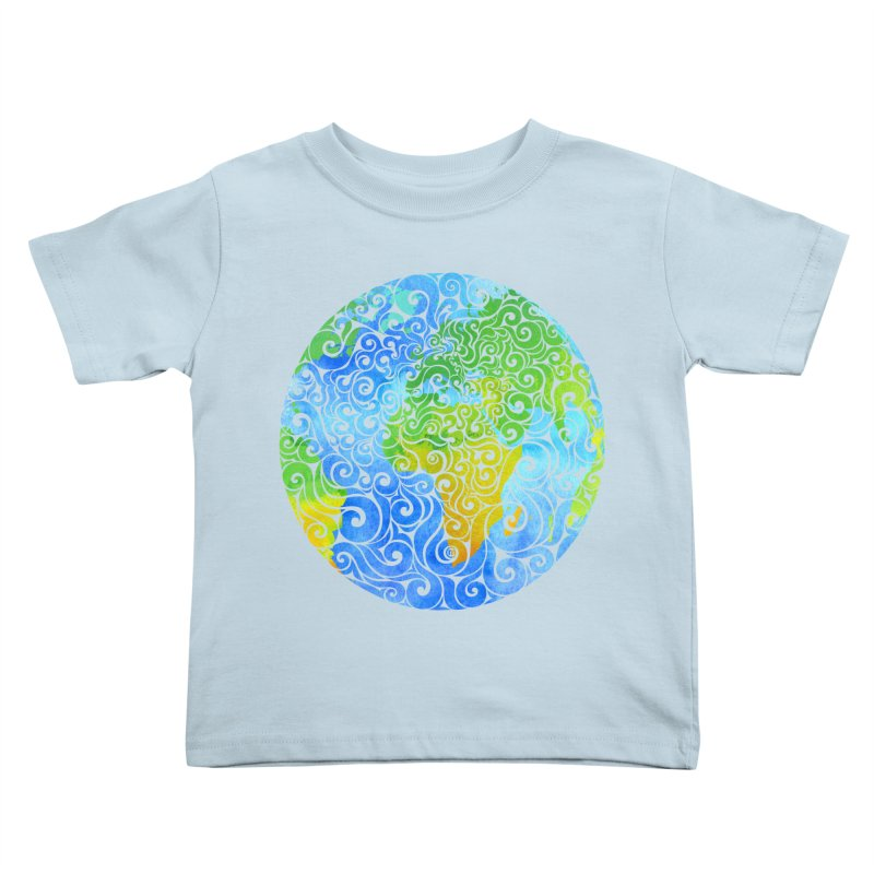 Swirly Earth Kids Toddler T-Shirt by VectorInk's Artist Shop