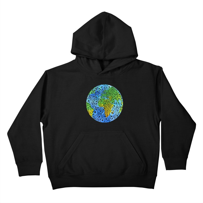 Swirly Earth Kids Pullover Hoody by VectorInk's Artist Shop