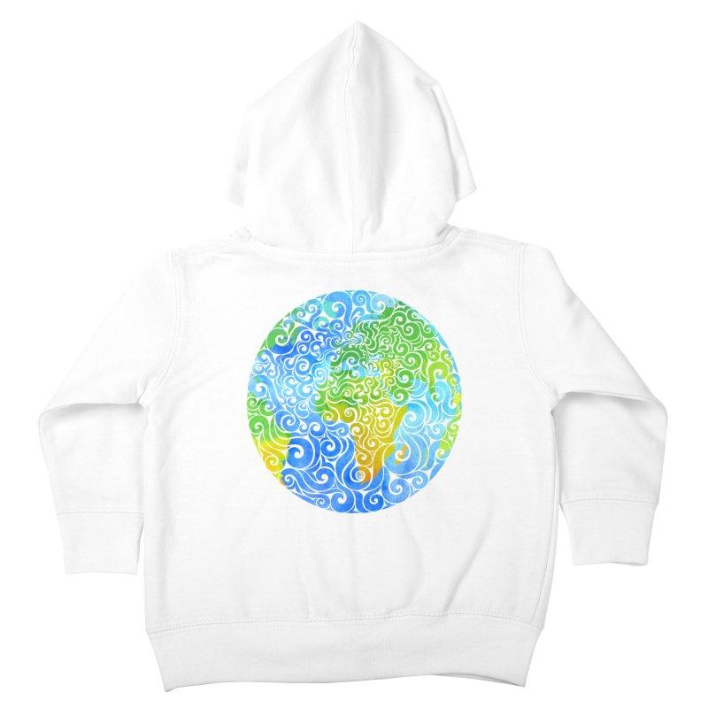 Swirly Earth Kids Toddler Zip-Up Hoody by VectorInk's Artist Shop