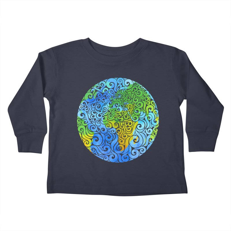 Swirly Earth Kids Toddler Longsleeve T-Shirt by VectorInk's Artist Shop