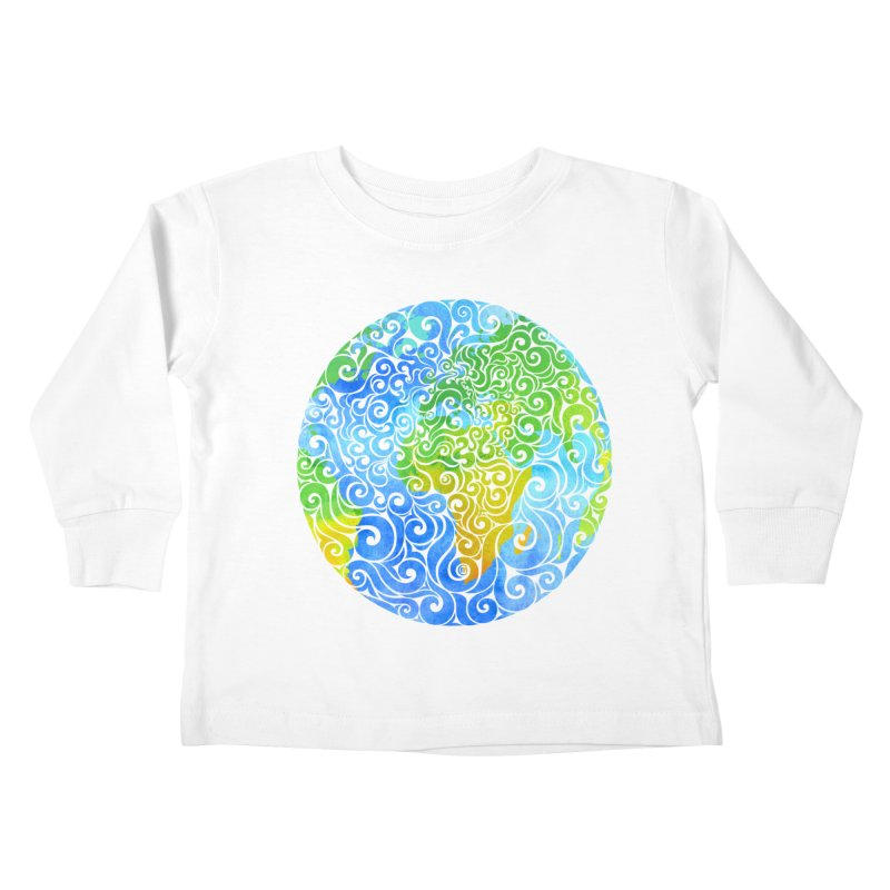 Swirly Earth Kids Toddler Longsleeve T-Shirt by VectorInk's Artist Shop