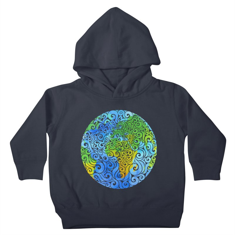 Swirly Earth Kids Toddler Pullover Hoody by VectorInk's Artist Shop