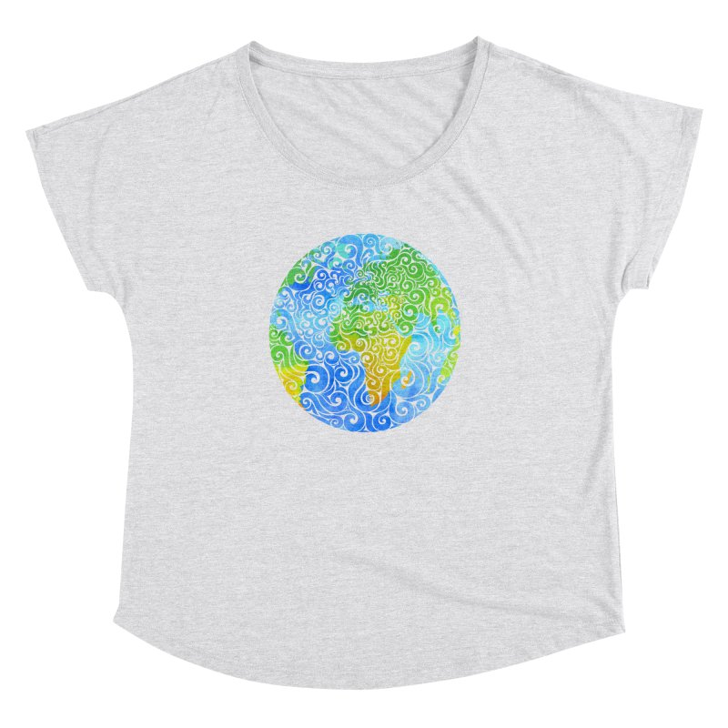 Swirly Earth Women's Dolman by VectorInk's Artist Shop