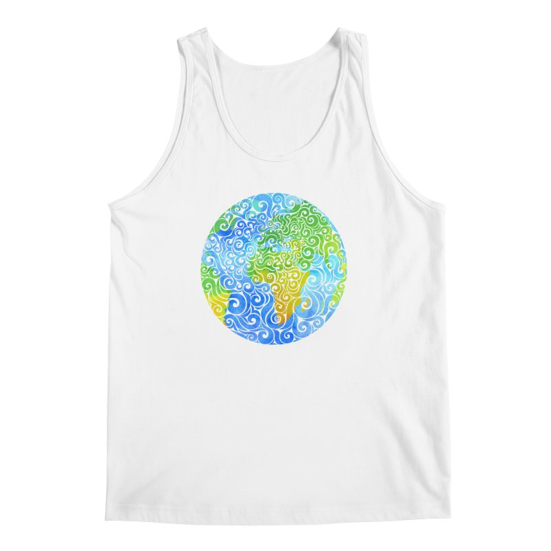 Swirly Earth Men's Tank by VectorInk's Artist Shop