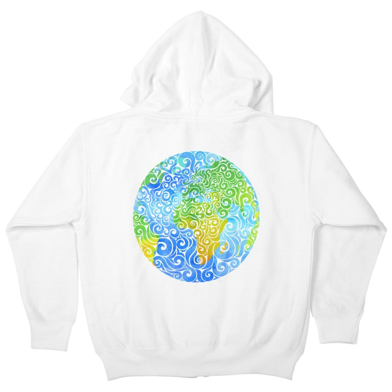 Swirly Earth Kids Zip-Up Hoody by VectorInk's Artist Shop