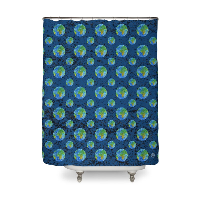 Swirly Earth Home Shower Curtain by VectorInk's Artist Shop