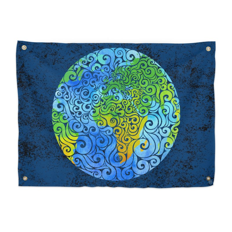 Swirly Earth Home Tapestry by VectorInk's Artist Shop