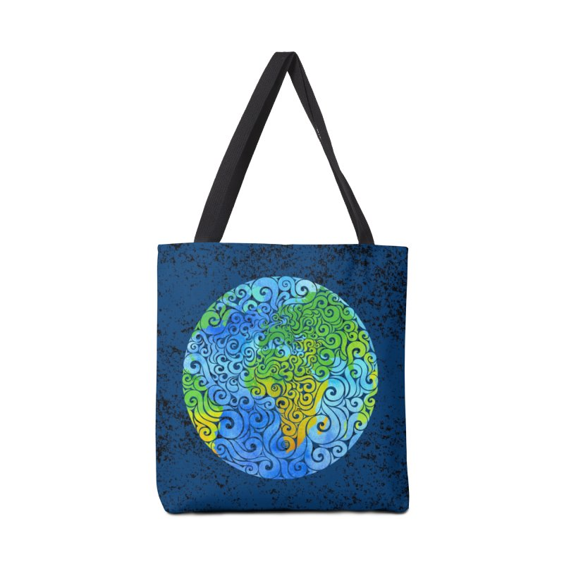 Swirly Earth Accessories Bag by VectorInk's Artist Shop