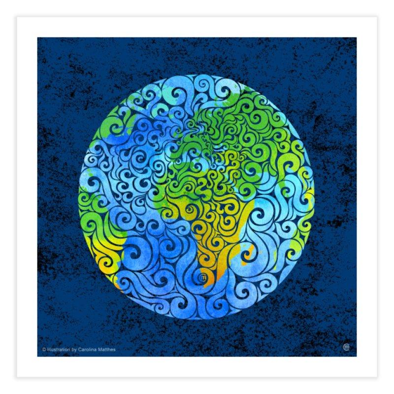 Swirly Earth Home Fine Art Print by VectorInk's Artist Shop