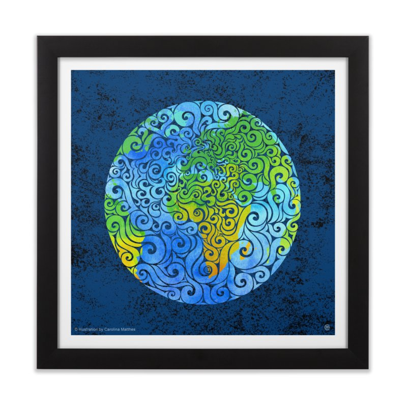 Swirly Earth Home Framed Fine Art Print by VectorInk's Artist Shop