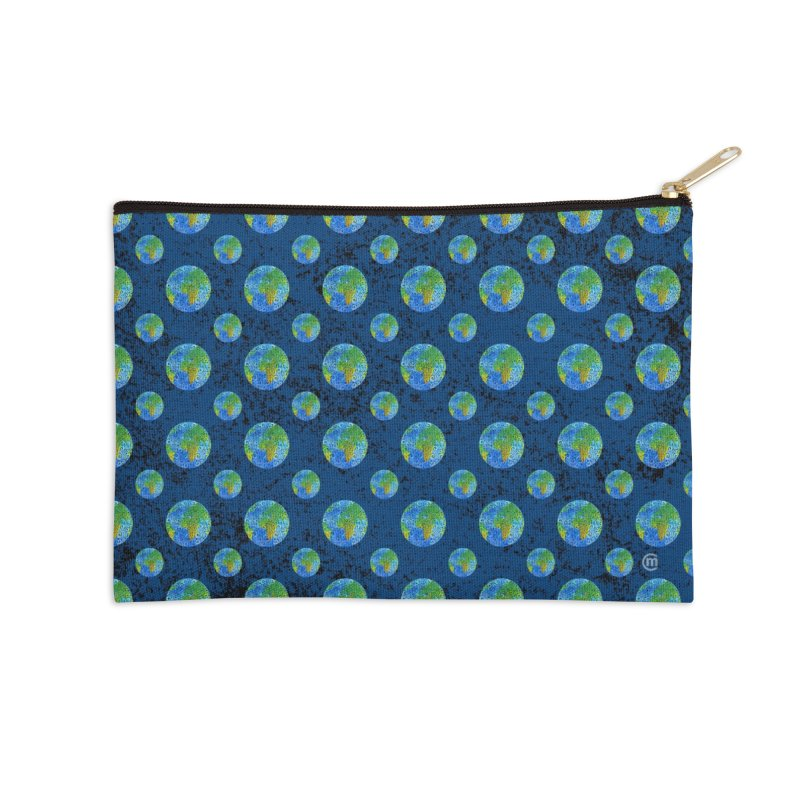 Swirly Earth Accessories Zip Pouch by VectorInk's Artist Shop
