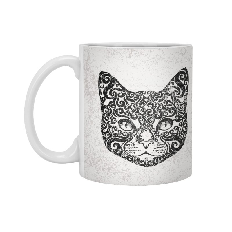 Swirly Cat Portrait 1 Accessories Mug by VectorInk's Artist Shop