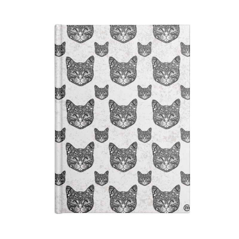 Swirly Cat Portrait 1 Accessories Notebook by VectorInk's Artist Shop