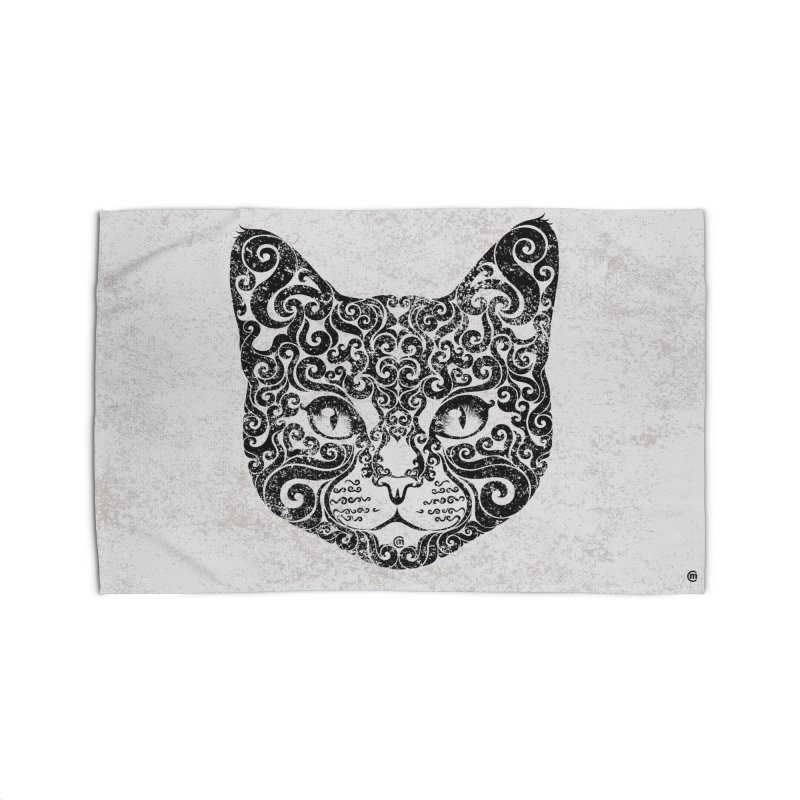 Swirly Cat Portrait 1 Home Rug by VectorInk's Artist Shop