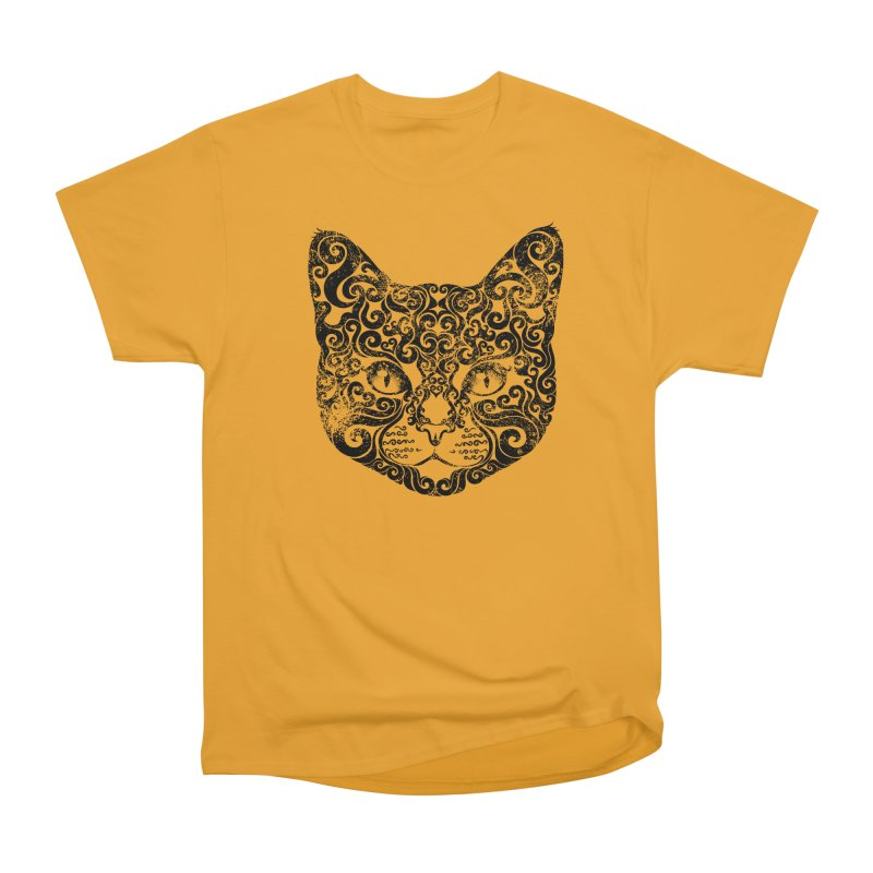 Swirly Cat Portrait 1 Men's Classic T-Shirt by VectorInk's Artist Shop