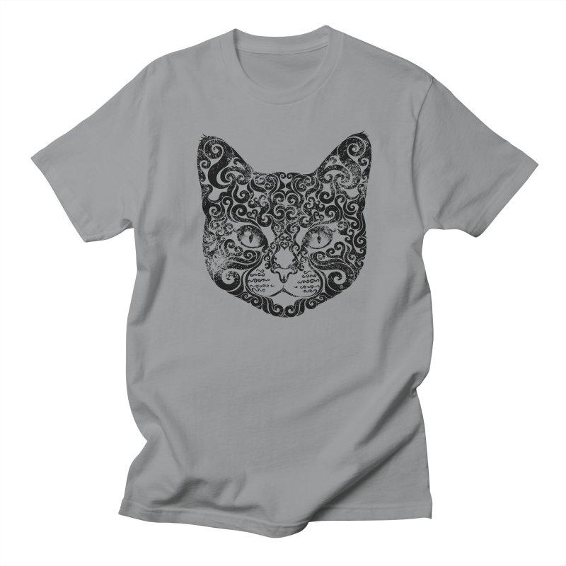 Swirly Cat Portrait 1 Women's Unisex T-Shirt by VectorInk's Artist Shop