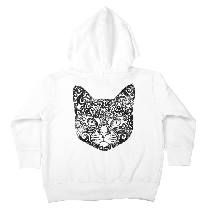 Swirly Cat Portrait 1 Kids Toddler Zip-Up Hoody by VectorInk's Artist Shop