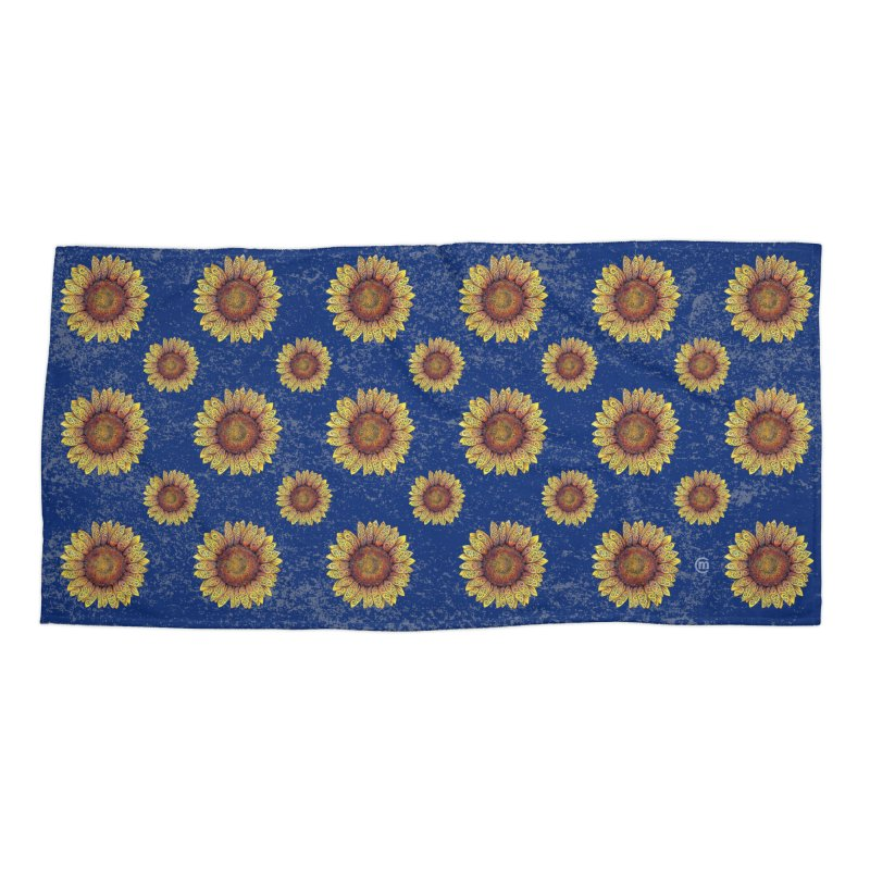 Swirly Sunflower Accessories Beach Towel by VectorInk's Artist Shop