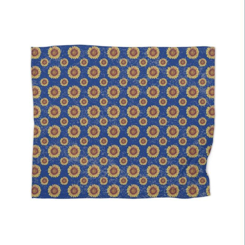 Swirly Sunflower Home Blanket by VectorInk's Artist Shop