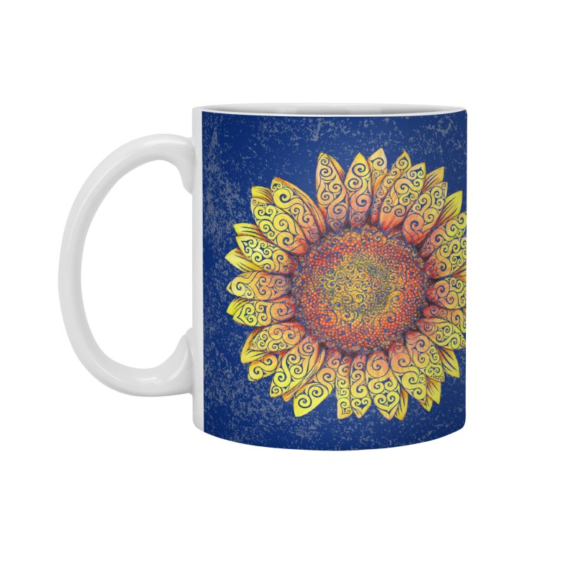 Swirly Sunflower Accessories Mug by VectorInk's Artist Shop
