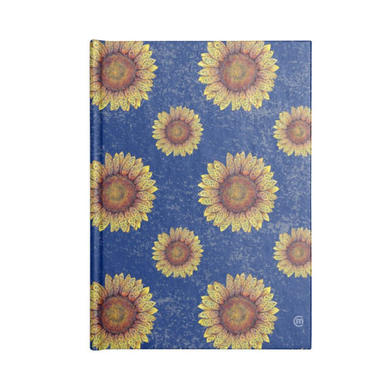 Swirly Sunflower Accessories Notebook by VectorInk's Artist Shop