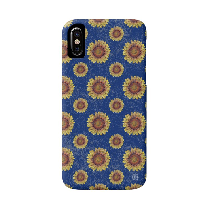 Swirly Sunflower Accessories Phone Case by VectorInk's Artist Shop