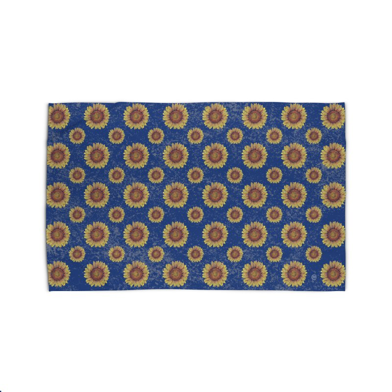 Swirly Sunflower Home Rug by VectorInk's Artist Shop