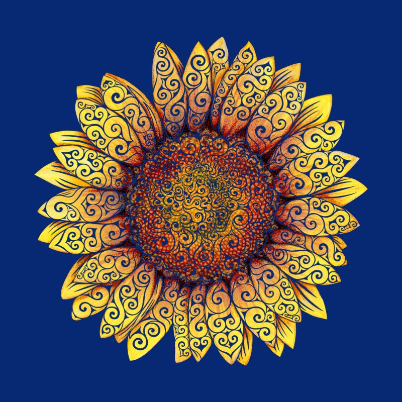 Swirly Sunflower Home Tapestry by VectorInk's Artist Shop