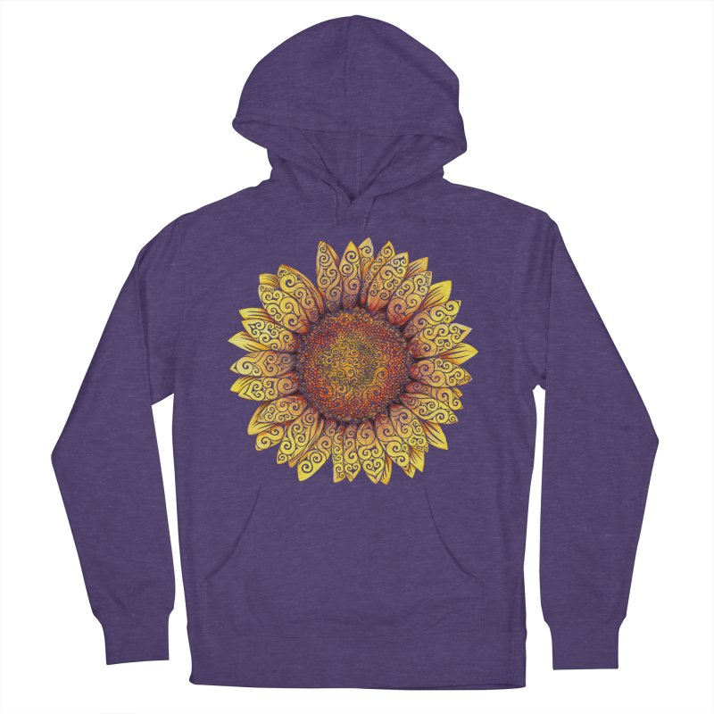 Swirly Sunflower Women's Pullover Hoody by VectorInk's Artist Shop