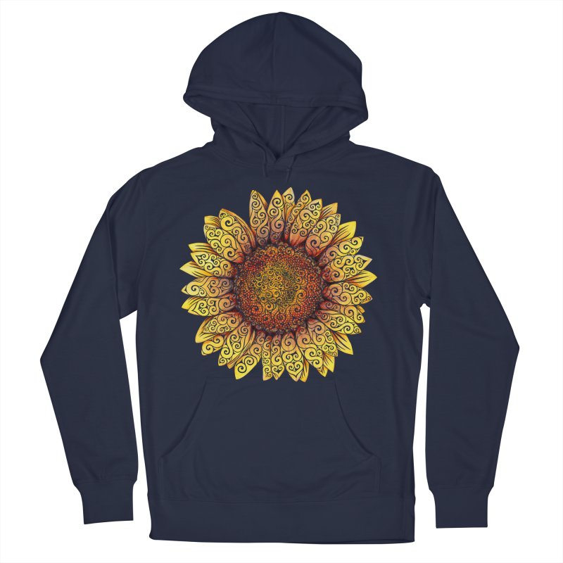 Swirly Sunflower Women's Pullover Hoody by VectorInk's Artist Shop
