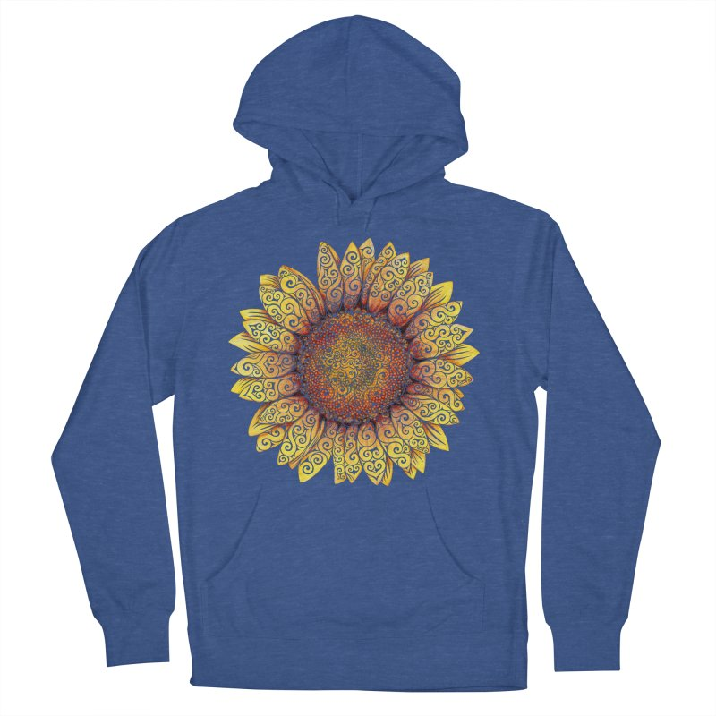 Swirly Sunflower Men's Pullover Hoody by VectorInk's Artist Shop