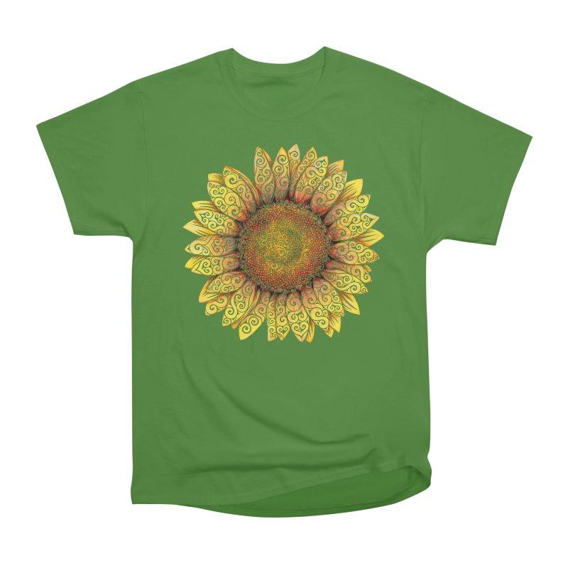 Swirly Sunflower Men's Classic T-Shirt by VectorInk's Artist Shop