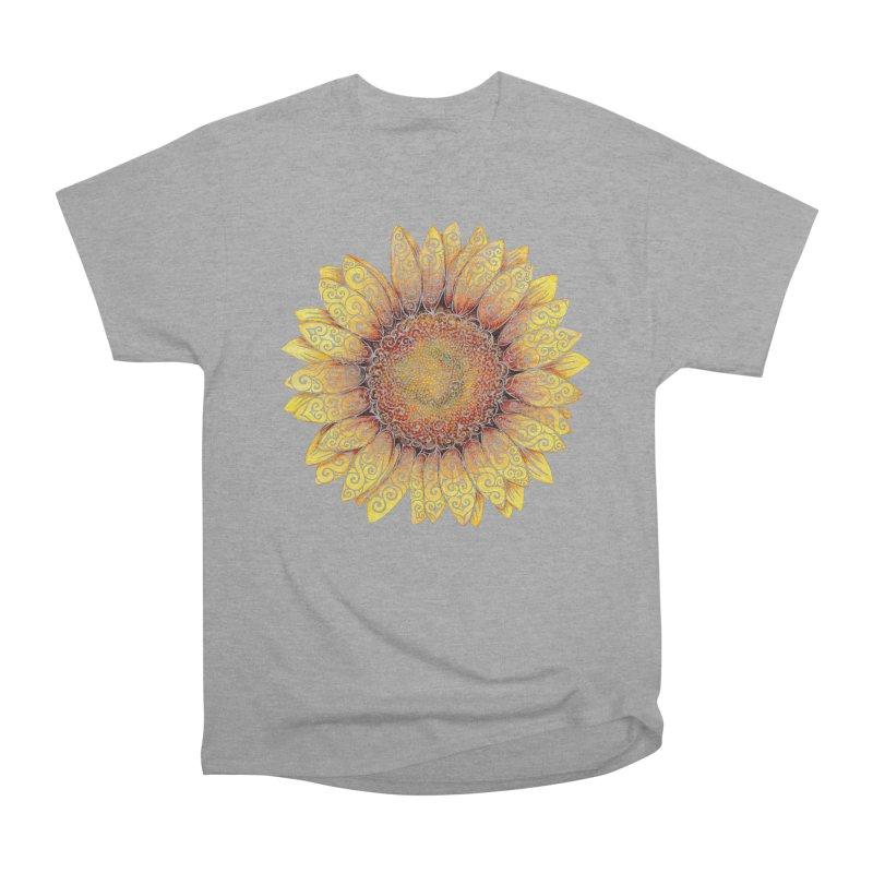 Swirly Sunflower Women's Classic Unisex T-Shirt by VectorInk's Artist Shop