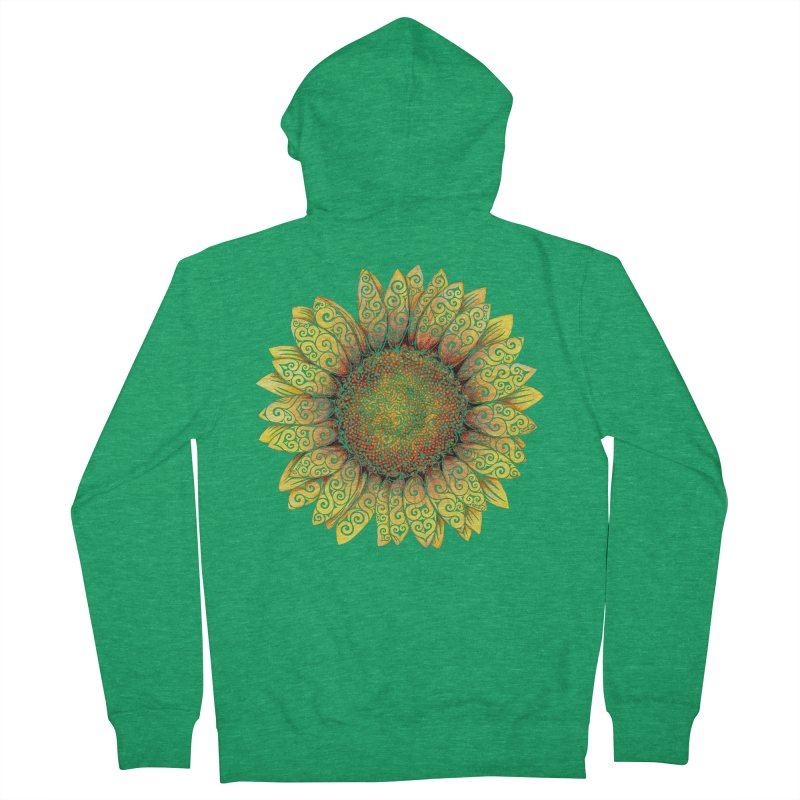 Swirly Sunflower Women's French Terry Zip-Up Hoody by VectorInk's Artist Shop