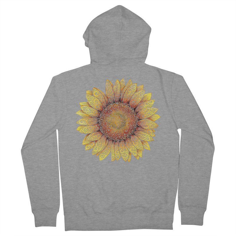 Swirly Sunflower Women's Zip-Up Hoody by VectorInk's Artist Shop