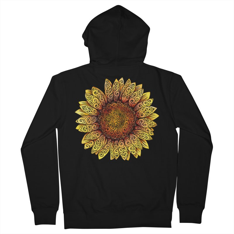 Swirly Sunflower Men's Zip-Up Hoody by VectorInk's Artist Shop