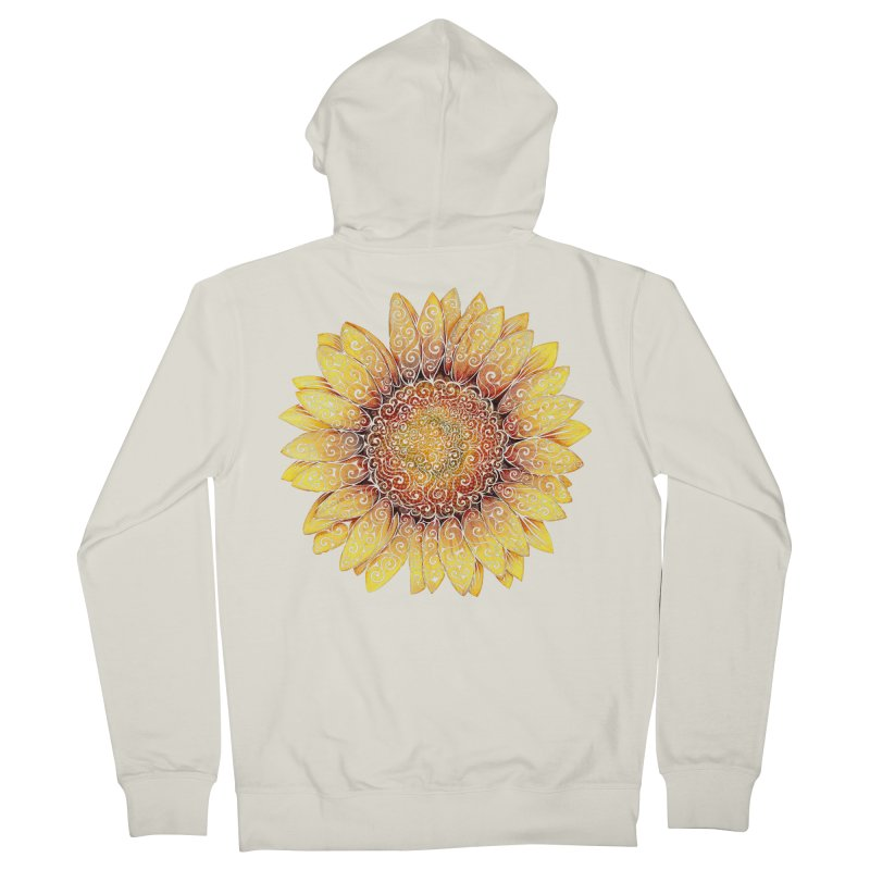 Swirly Sunflower Men's Zip-Up Hoody by VectorInk's Artist Shop