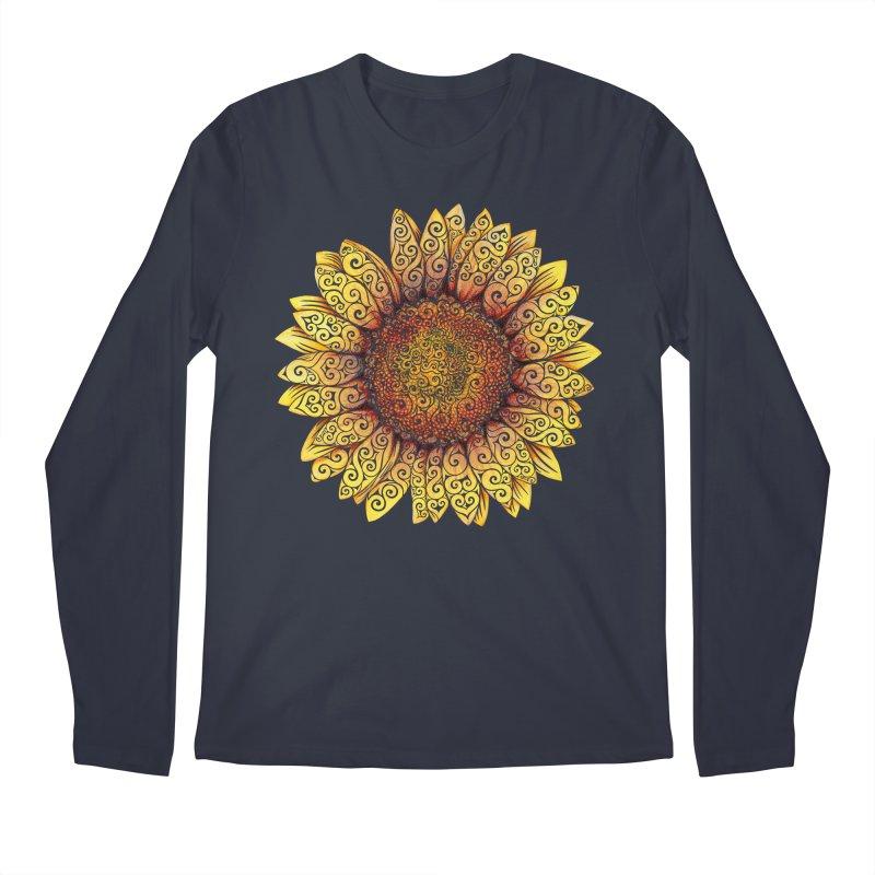 Swirly Sunflower Men's Longsleeve T-Shirt by VectorInk's Artist Shop