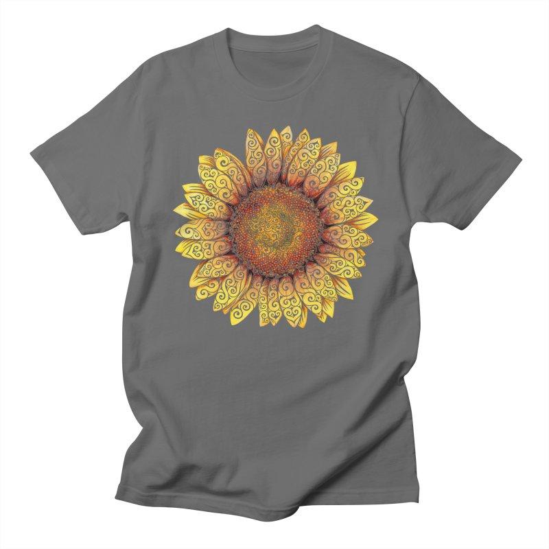 Swirly Sunflower Women's Unisex T-Shirt by VectorInk's Artist Shop