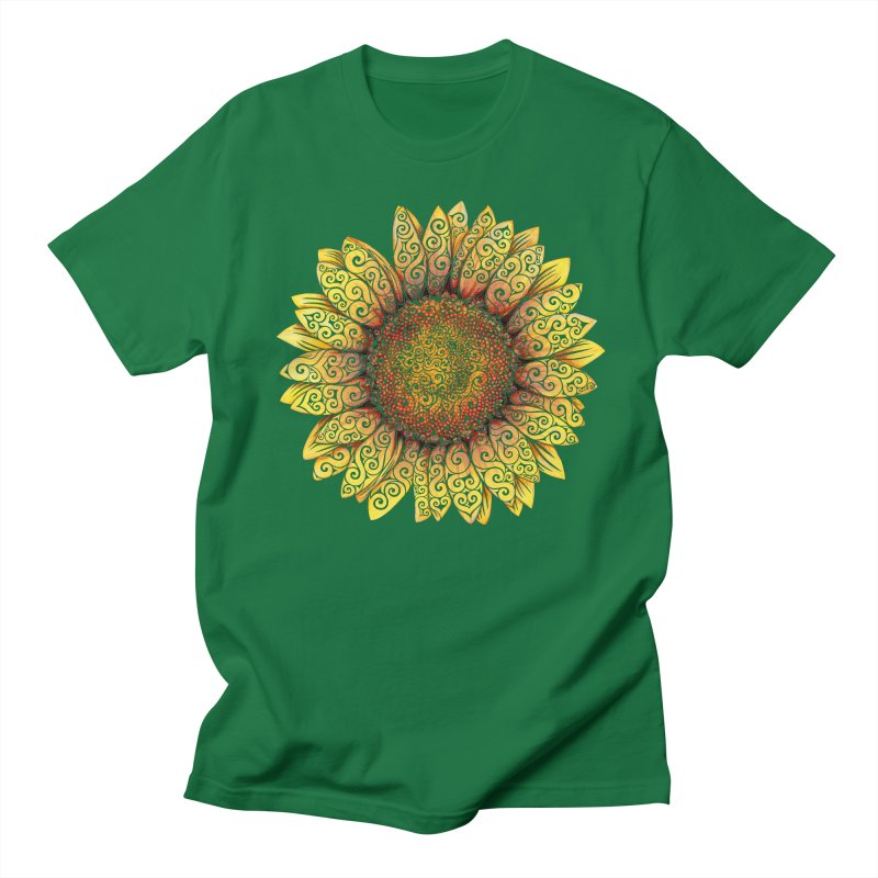 Swirly Sunflower Women's Unisex T-Shirt by VectorInk's Artist Shop