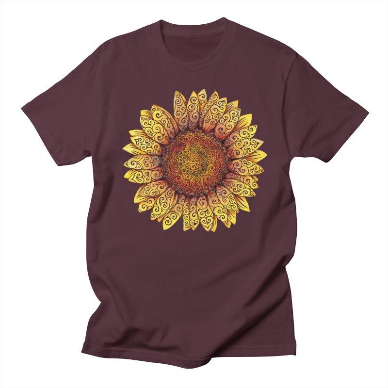 Swirly Sunflower Men's T-Shirt by VectorInk's Artist Shop