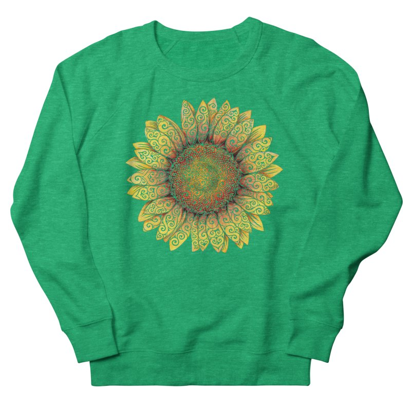 Swirly Sunflower Women's French Terry Sweatshirt by VectorInk's Artist Shop